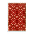 Floor Tile Rug in Red