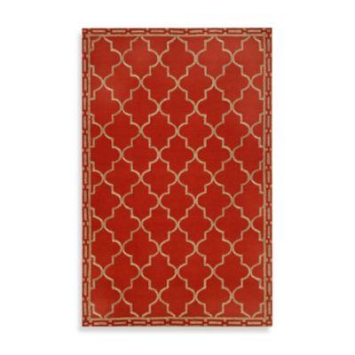 Trans-Ocean Floor Tile 2-Foot x 8-Foot Indoor/Outdoor Rug in Red
