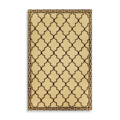 Floor Tile 3-Foot 6-Inch x 5-Foot 6-Inch Indoor/Outdoor Rug in Wheat