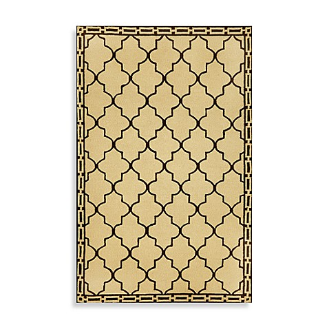 Floor Tile 5-Foot x 7-Foot 6-Inch Indoor/Outdoor Rug in Wheat
