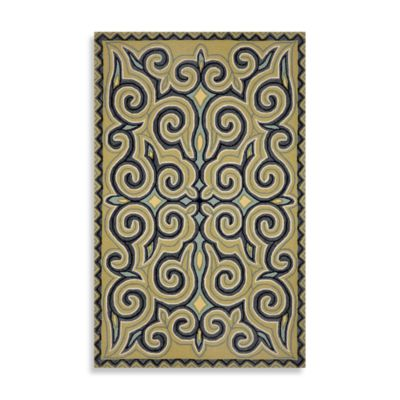 Trans-Ocean Kazakh 2-Foot x 8-Foot Indoor/Outdoor Rug in Ocean