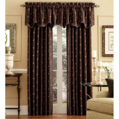 Celeste Scalloped Window Curtain Valance in Black