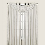 Quinn Stripe Sheer Grommet Scarf Window Valance