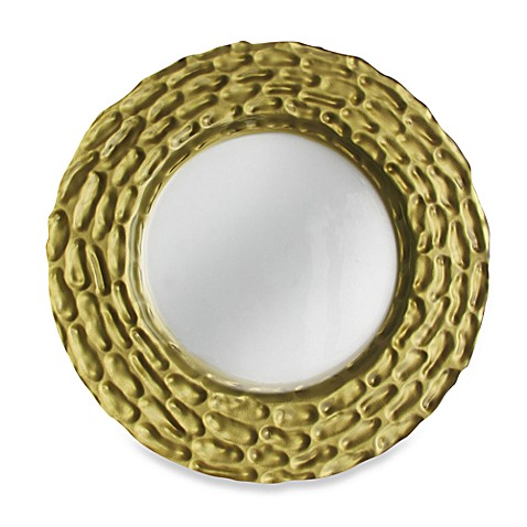 ChargeIt! By Jay Roma Set of 4 Glass Charger Plates  in Gold
