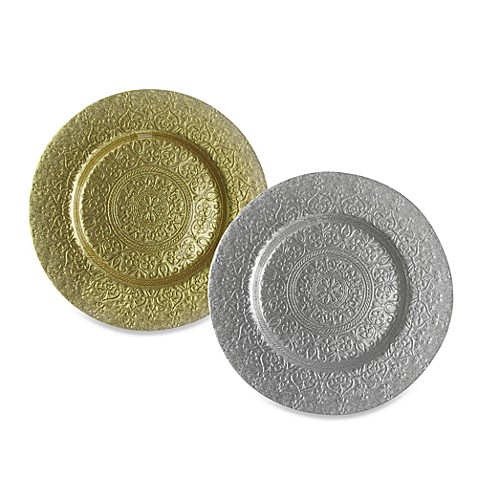 ChargeIt! By Jay Alinea Glass Charger Plate (Sets of 4)