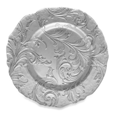 ChargeIt! By Jay Vanessa Set of 4 Glass Charger Plate in Silver