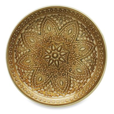 ChargeIt! By Jay Divine Set of 4 Glass Charger Plate in Gold