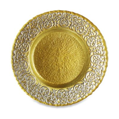 ChargeIt! By Jay Baroque Glass Charger Plate (Set of 4)