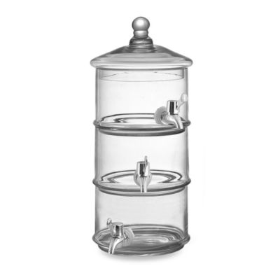 Fifth Avenue Crystal Royal Glass 5-Quart Beverage Dispenser