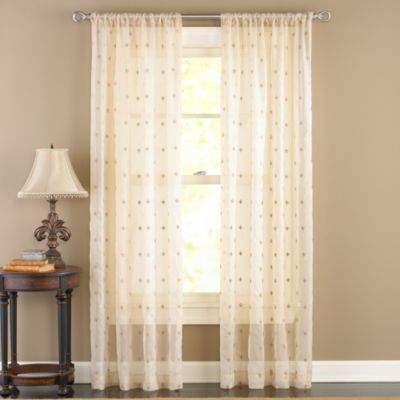 Celeste Antique Sheer 108-Inch Rod Pocket Window Curtain Panel