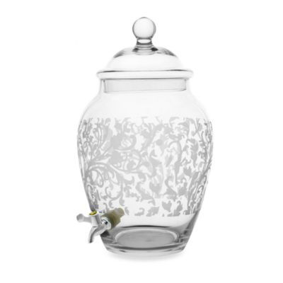 Fifth Avenue Crystal Grahamsville Glass 10-Quart Beverage Dispenser