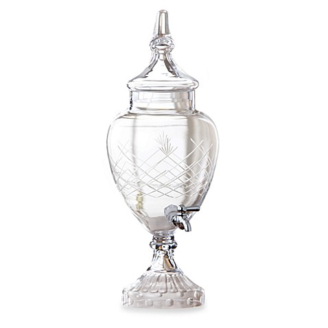Fifth Avenue Crystal Winston Glass 128-Ounce Beverage Dispenser