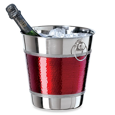 Oggi™ Hammered Red Champagne Bucket