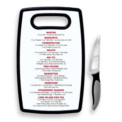 Oggi™ Cocktail Cutting Board with Knife