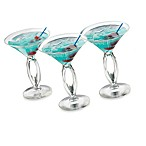 Cool Cocktails Cabana Martini Glasses (Set of 6)