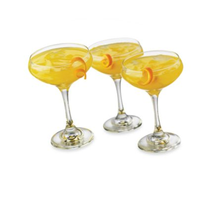 Cool Cocktails Metro Madness Margarita Glasses (Set of 6)