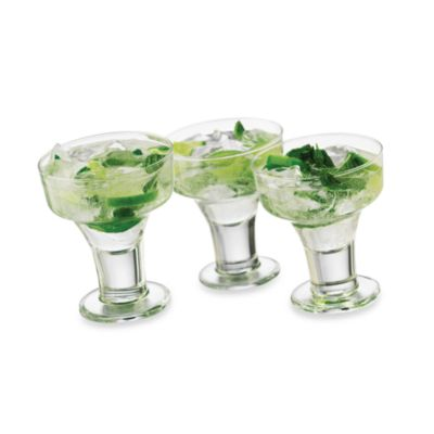 Cool Cocktails Urban Edge Margarita Glasses (Set of 6)
