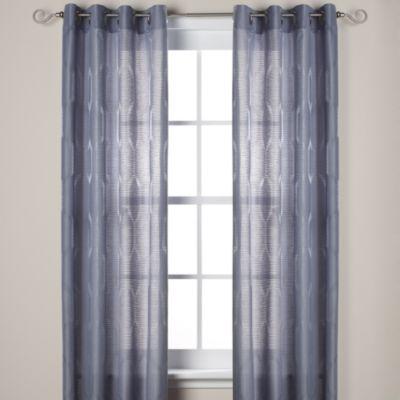 J Queen New York Hamilton 84 Inch Grommet Window Curtain Panel In Blue