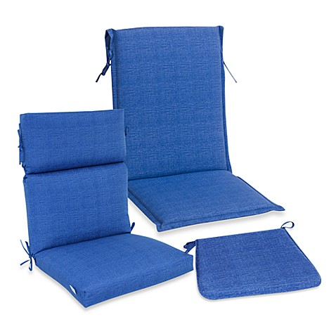 Outdoor Seat Cushion Collection in Blue