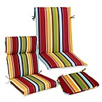 Outdoor Patio Cushion Collection in Bright Stripe