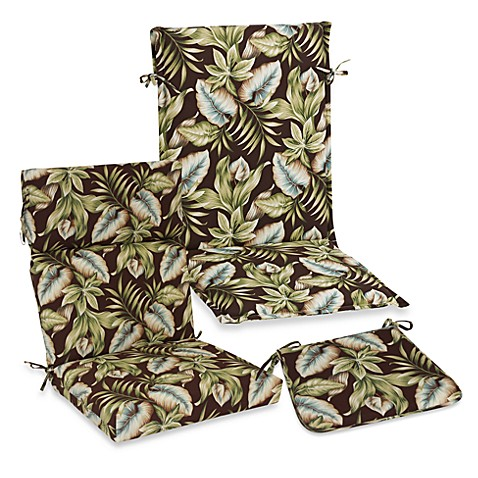 Outdoor Seat Cushion Collection in Brown Leaf