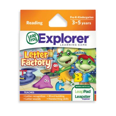 LeapFrog® LeapPad2 Power Learning Tablet > LeapFrog® Explorer Letter Factory Learning Game