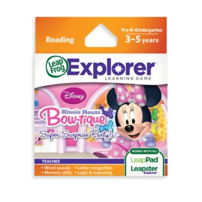 LeapFrog® LeapPad™ Game Cartridge: Disney Minnie Mouse Bow-Tique Super Surprise Party!