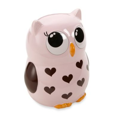 Argento Sweet Owl Pink & Brown Piggy Bank