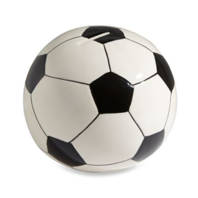 Argento Soccer Ball Piggy Bank