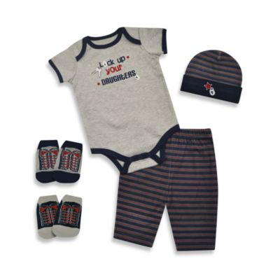 Baby Essentials Lock Up Your Daughters 5-Piece Layette Set