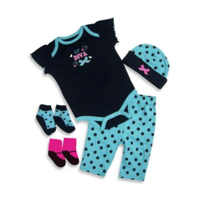 Baby Essentials Lil Diva 5-Piece Layette Set