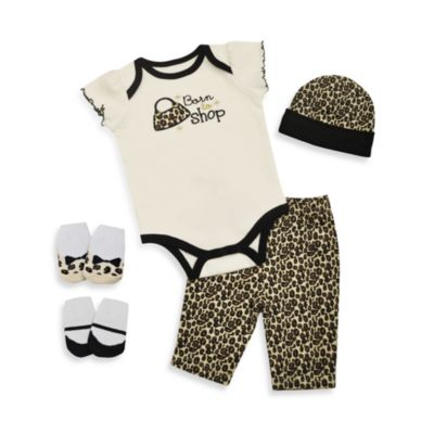 Baby Essentials Born to Shop 5-Piece Layette Set
