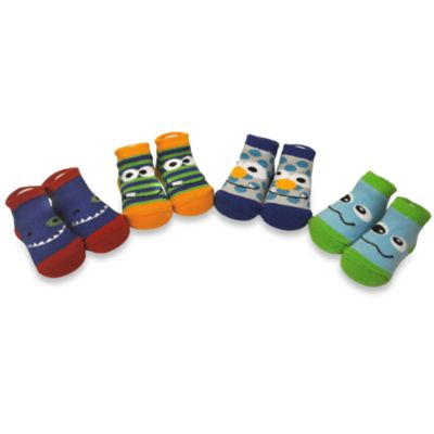 Baby Essentials Monster Bootie Socks (Set of 4)