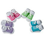 Baby Essentials Girl's Sneaker Bootie Socks (Set of 4)