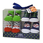 Baby Essentials Boy's Sports Bootie Socks (Set of 4)