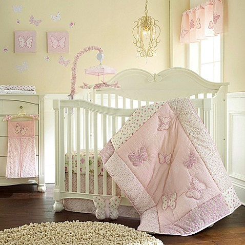 Bella Butterfly 4-Piece Crib Bedding Set