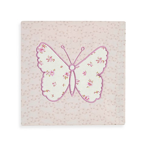 Bella Butterfly Canvas Wall Art (Set of 2)