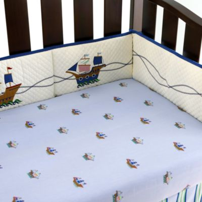 Pirate Adventures Crib Sheet in Blue