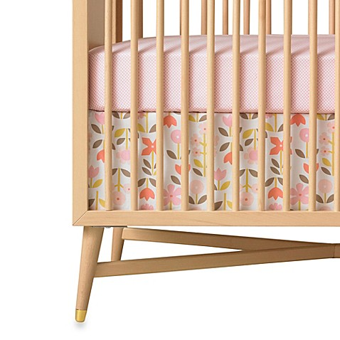buy dwellstudio rosette blossom crib skirt from bed bath