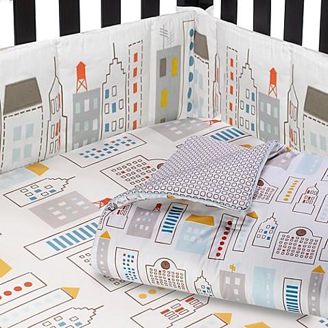 Dwell Skyline Crib Bedding