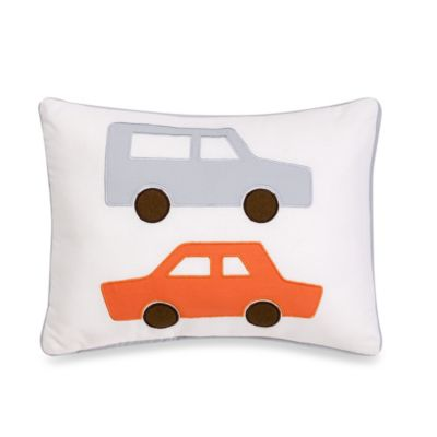 Dwell Studio® Skyline LT. Blue Cars Boudoir Pillow