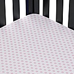 Floral Dot Fitted Crib Sheet in Pale Rose