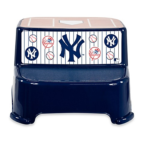 Kolcraft mlb new york yankees step stool buybuy baby for Yankees bathroom decor
