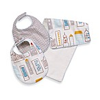 DwellStudio® Skyline LT. Blue Bib/Burp Set