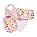 DwellStudio® Bib & Burp Cloth Set in Rosette Blossom