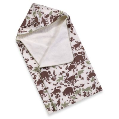 DwellStudio® Woodland Tumble Mocha Hooded Towel