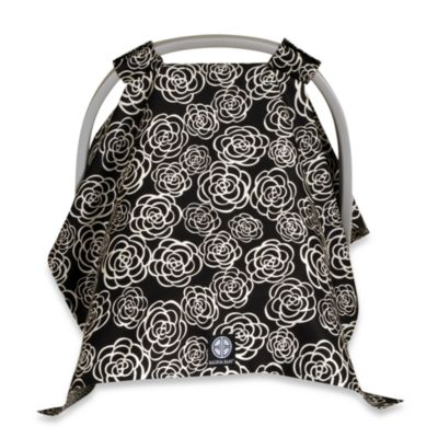 Balboa Baby® Car Seat Canopy in Black/White Camellia
