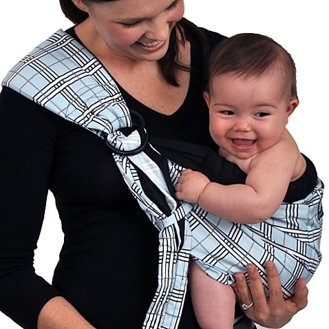 Balboa Baby® Dr. Sears Original Adjustable Baby Sling in Blue/Black Plaid