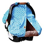 Padalily® Car Seat Canopy in Blue Ring Dot