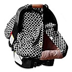 Padalily® Car Seat Canopy in Black Ring Dot